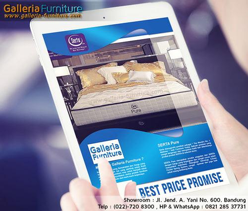 Gambar KAsur Spring Bed SERTA Pure dan Harganya