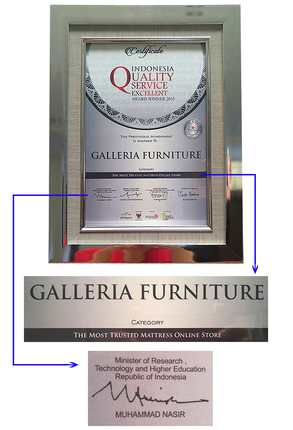 Toko Spring Bed Online Terbaik Terpercaya- Galleria Furniture