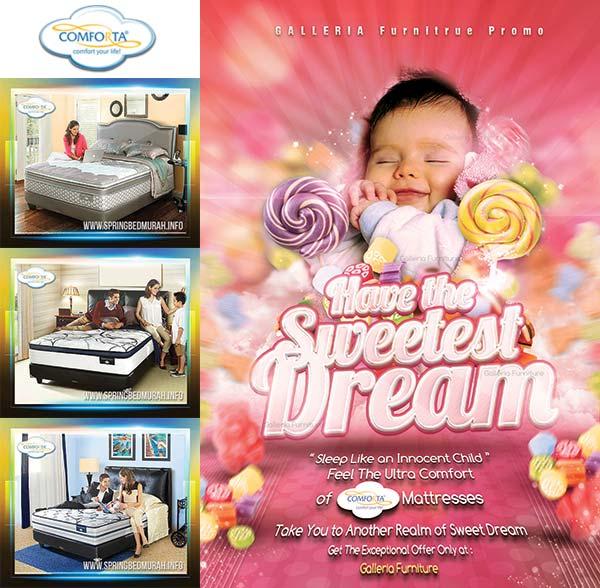 Toko Jual Tempat Tidur Spring Bed Comforta Harga Murah Bandung