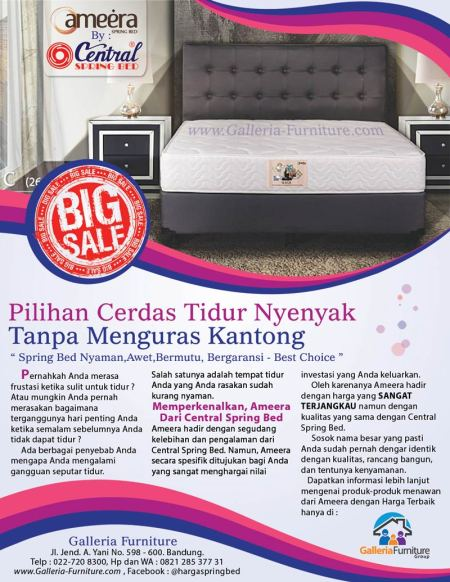 Harga Ameera Magic by Central Spring Bed