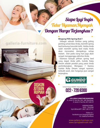 Springbed Guhdo Ruby Dream - Murah Bagus