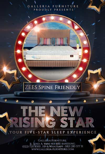 Spring Bed Latex Bagus Zees - Harga Murah Bandung