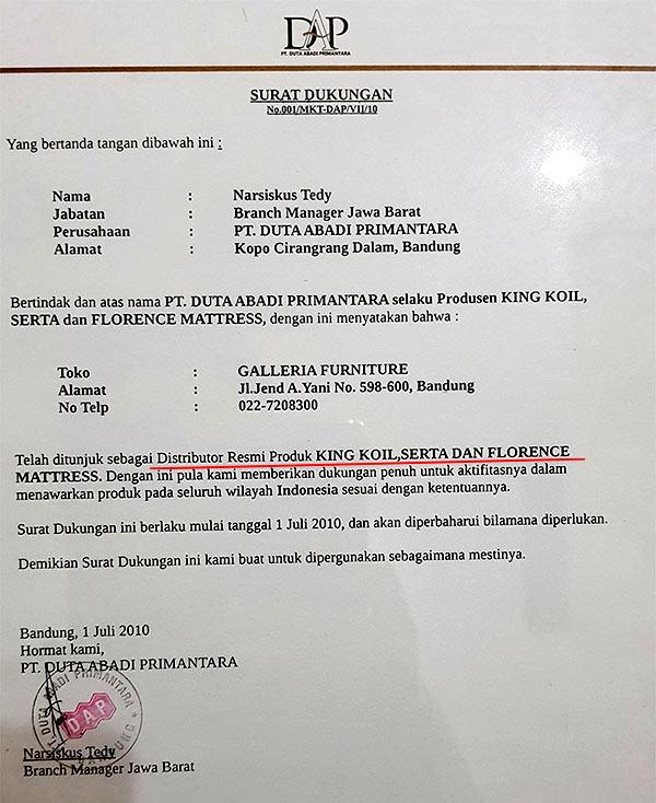 Distributor Resmi Springbed SERTA Bandung